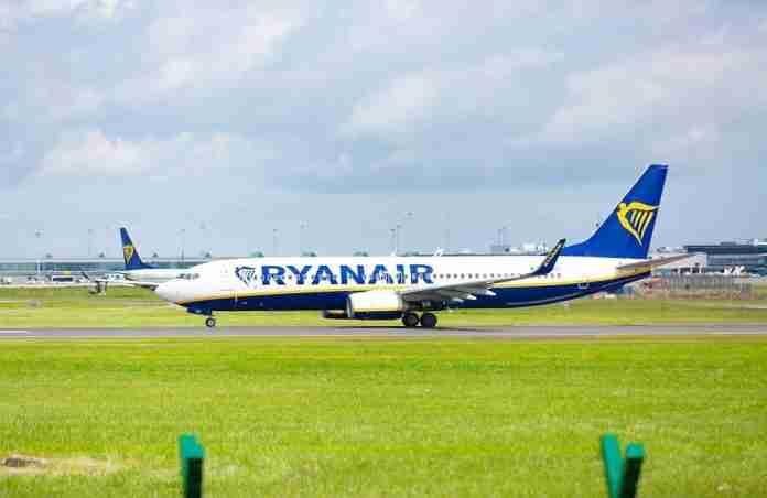 Ryanair, un velivolo della compagnia