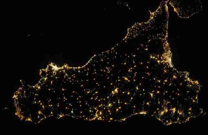 La Sicilia vista dalla Stazione spaziale internazionale