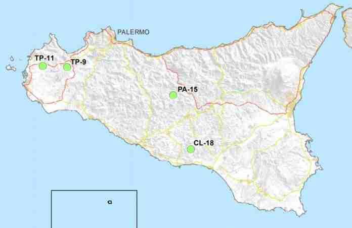 Mappa dei siti nucleari in Sicilia Sogin