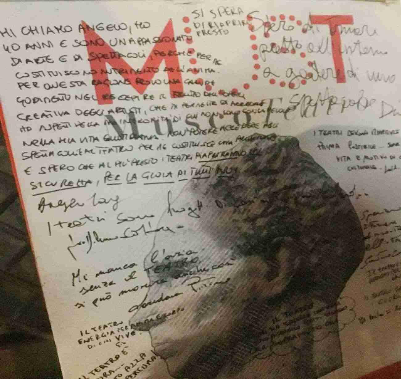 Teatro Angelo Musco Catania, protesta del 22 febbraio 2021